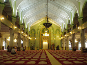 sultan mosque-inside